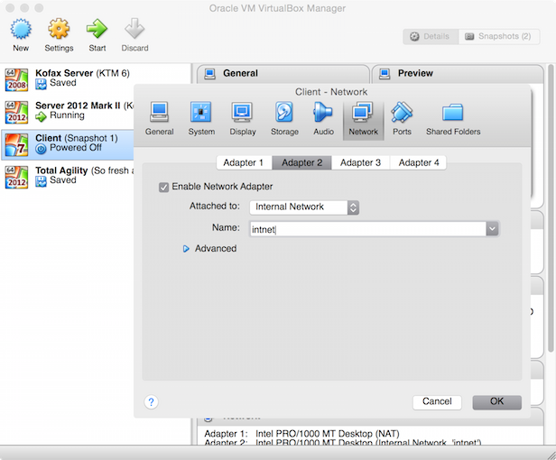 Network Capture Box : Capture client server installation with virtualbox