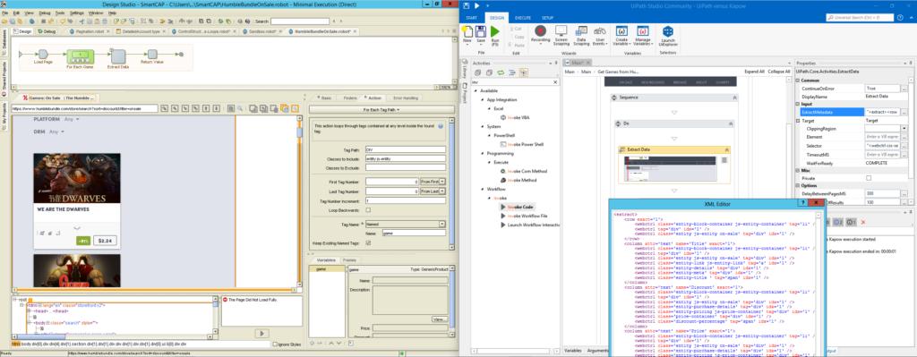 Kapow vs  UiPath, Part II: Web Automation – Quipu Blog