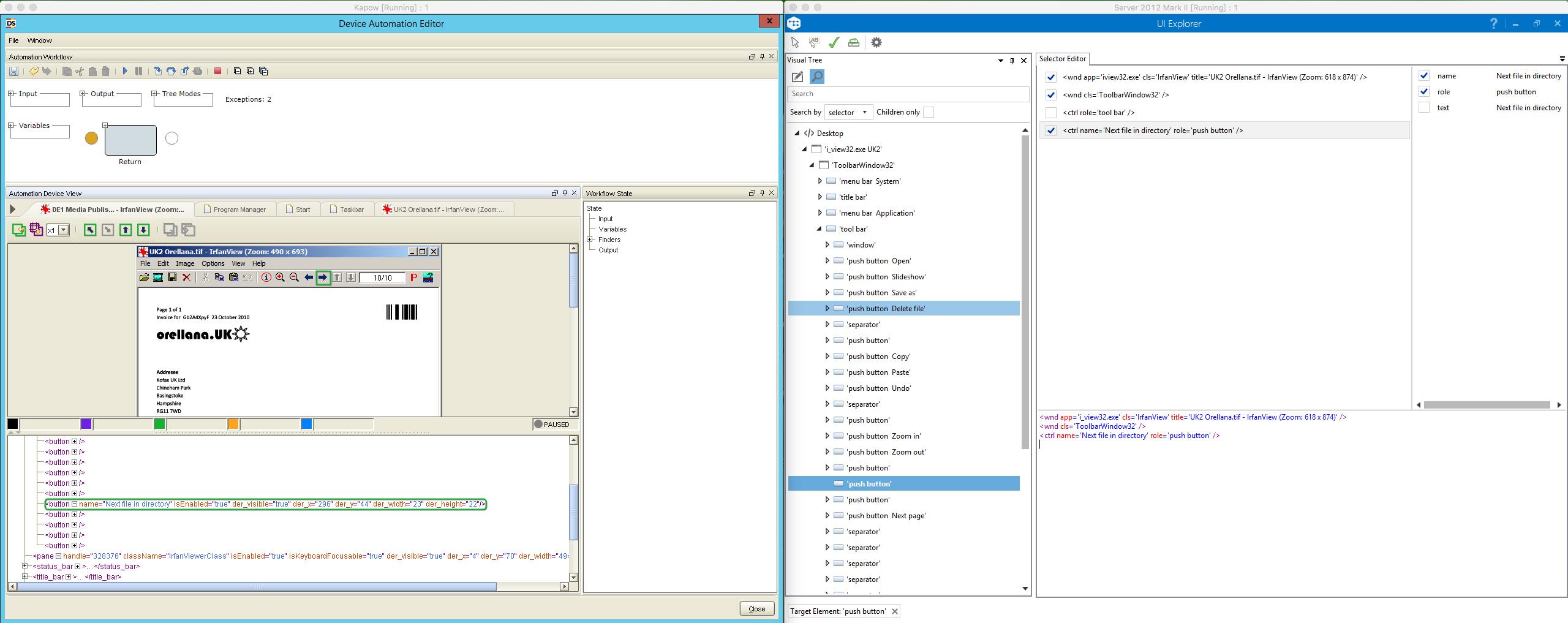Kapow vs  UiPath, Part III: Desktop Automation – Quipu Blog